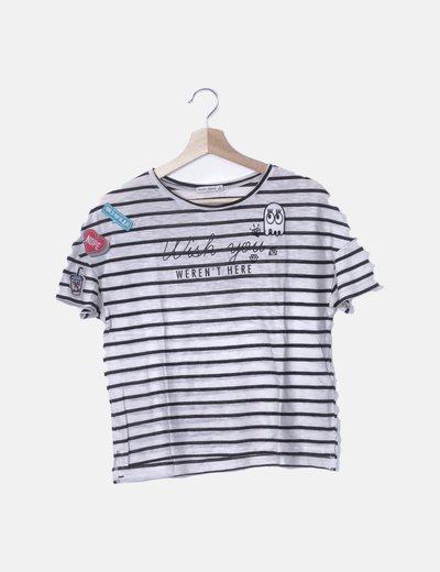 Camiseta marinera con bordados