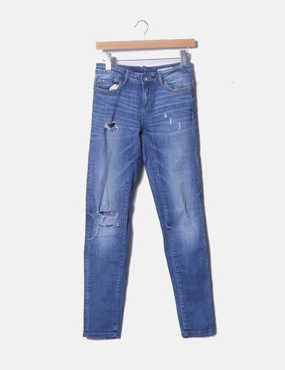 Jeans mid rise skinny ripped