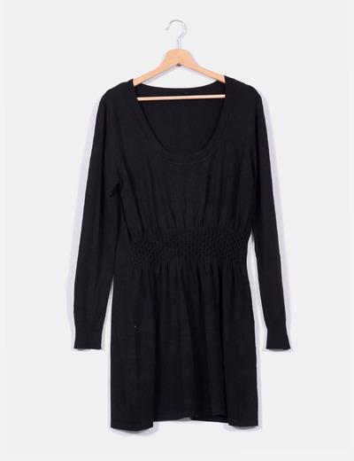 Vestido de punto fino negro  Punt Roma