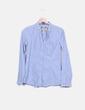 Camisa azul de rayas Bershka