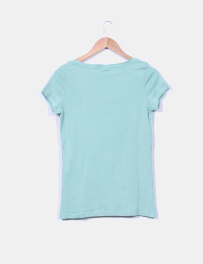 Camiseta verde mint manga corta