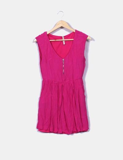 Vestido rosa fucsia sin mangas Stradivarius