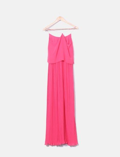 4d65cfae8 Massimo Dutti Maxi vestido plisado rosa (descuento 82%) - Micolet