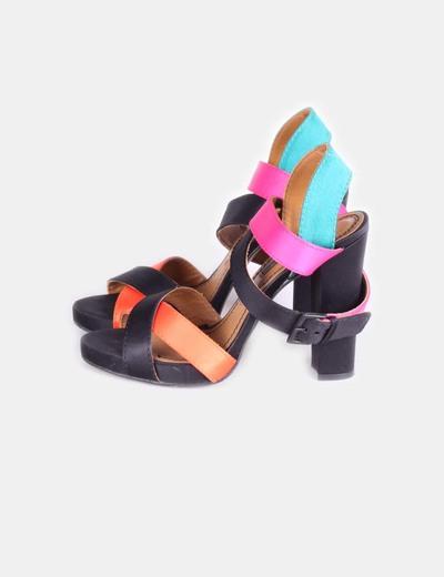 3da74971820f1 Zara Sandalia de tacón de tiras a color (descuento 42%) - Micolet