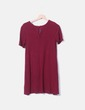 Smooth burgundy dress Stradivarius
