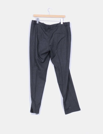 Pantalon de cuadros gris