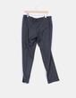 Pantalón de cuadros gris Zara