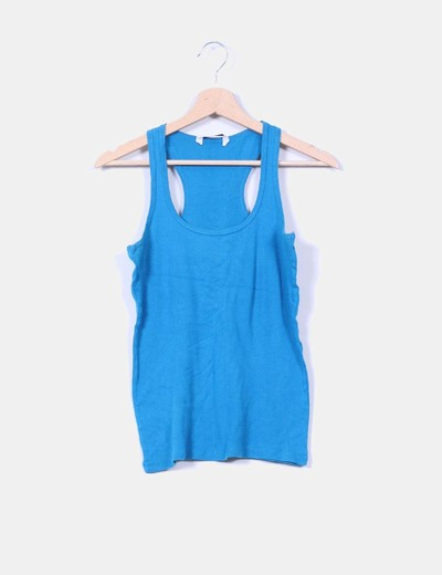 Top espalda nadadora azul Pull&Bear