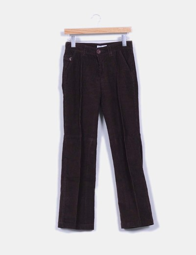 Pantalón marrón de pana Mango
