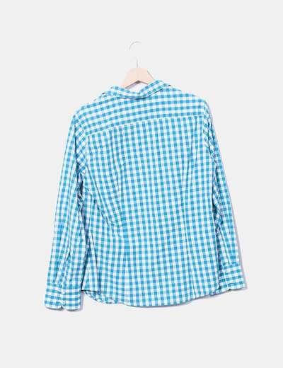 24c8cabe8 Benetton Camisa de cuadros turquesa (descuento 78%) - Micolet