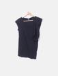 Camiseta negra manga vuelo Hoss Intropia