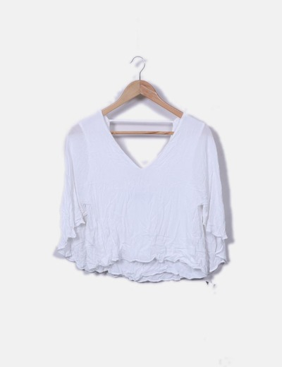 Top blanco cropped
