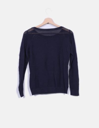 Sueter tricot azul marino