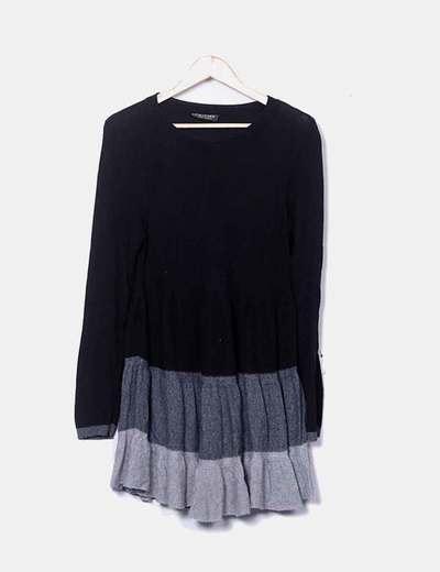 Vestido tricot con vuelo