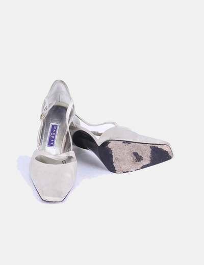 Zapato beige punta cuadrada