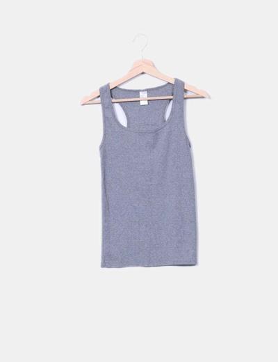 Camiseta nadadora gris Oxylane