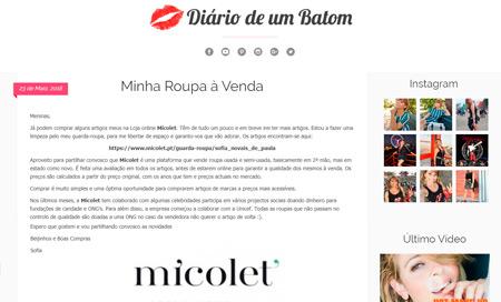 1f229b4e2 Aproveito para partilhar convosco que Micolet é uma plataforma que vende  roupa usada e semi-usada