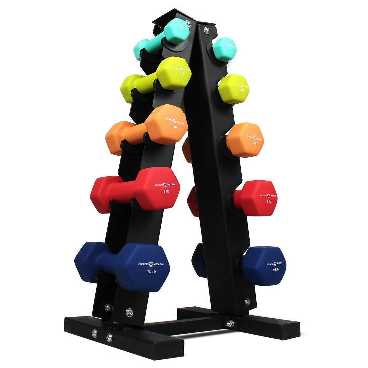 Dumbbells Rack Troy 5 75lb Dumbbell Set W 3 Tier Shelf