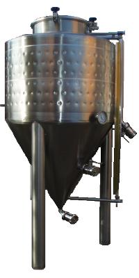 Cuve de fermentation cylindro-conique refroidie