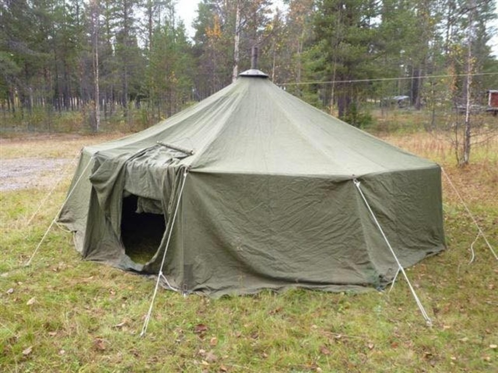 & Swedish 12 Man Tipi Tent with wood stove