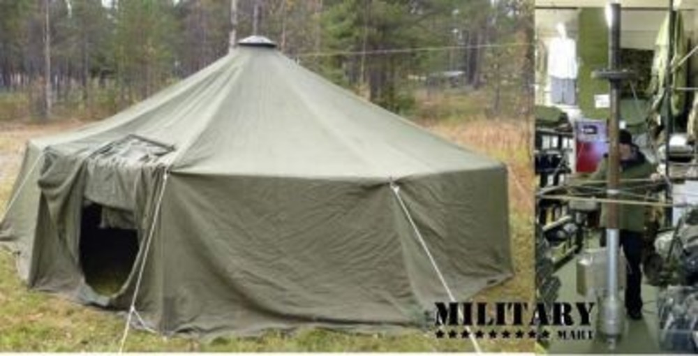 swedish-20-man-tent-wood-burning-stove.jpg & Swedish Army 20 Man Dome Tipi Tent