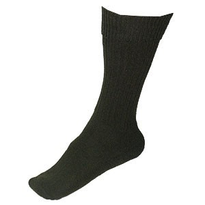British Army Issue Military Wool Black Sock