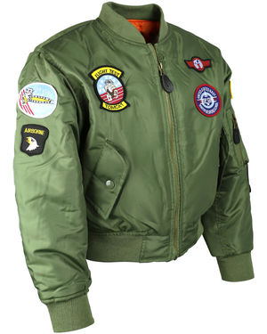Kids MA1 Olive Flight Jacket