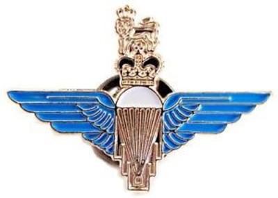 Para Enamel Metal Cap Badge