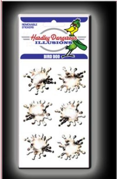 Hardley Dangerous Bird Poo Sticker