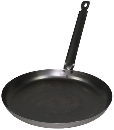 26 cm steel camping frying pan