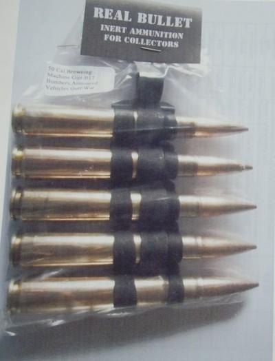 50cal browning B17 inert bullet belt 5pk