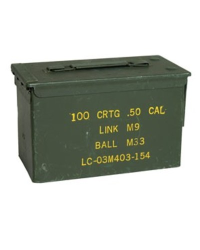 50 Cal Ammo Tin