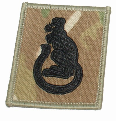 7th Armoured Division Badge Multicam® Colour & subdued