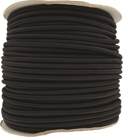 8mm Black Shock  Bungee Cord Per Metre