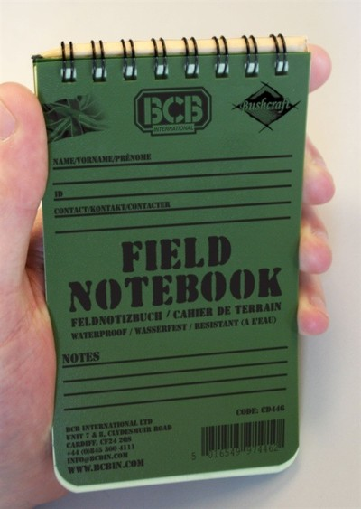 Waterproof Field Oxford Notebook and pencil