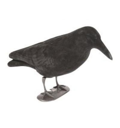 flocked full body crow Decoy