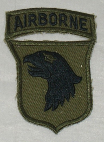 101st Airborne Division Subdued Badge
