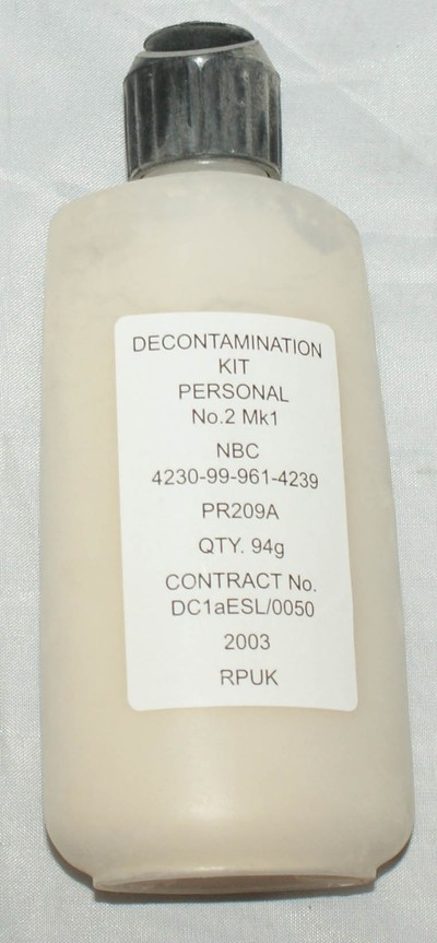 Decontamination kit personal no2 MK1