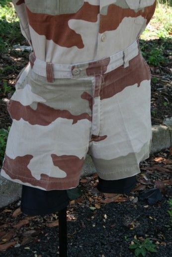 French F1 Desert Camo Shorts