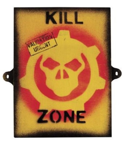 Wooden Kill Zone Sign