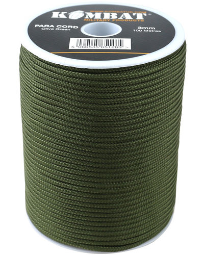 Para Cord on reel - 100m Olive Green
