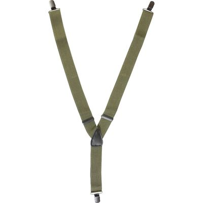Clip on Braces - Olive Green