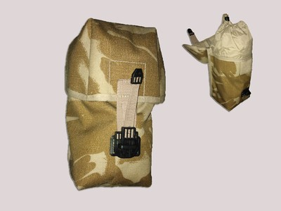 British Army Desert Utility Pouch with storm closure