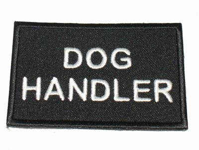 Dog Handler Black patch / badge (security)