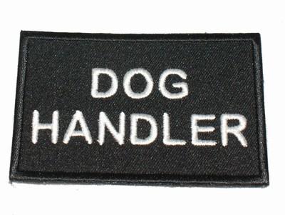 Dog Handler Black patch / badge (security)