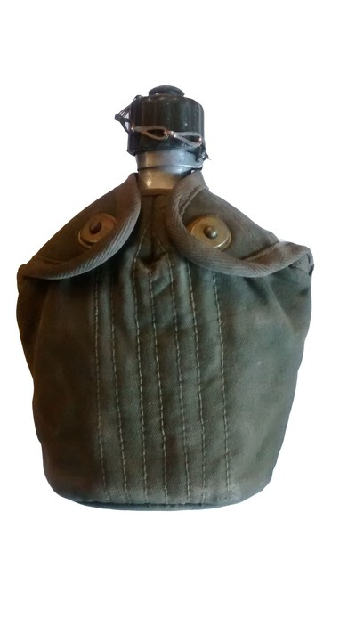 Dutch army metal Waterbottle & pouch