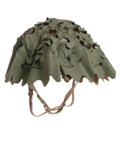 French Camo Netting Helmet Cover