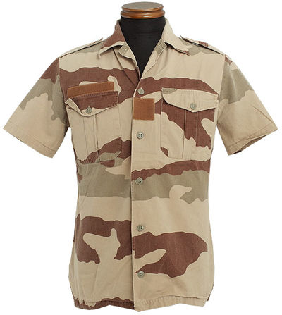 French Army Desert CCE camo short sleeve shirt