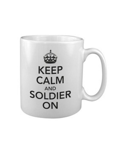 Keep Calm Soldier On Mug