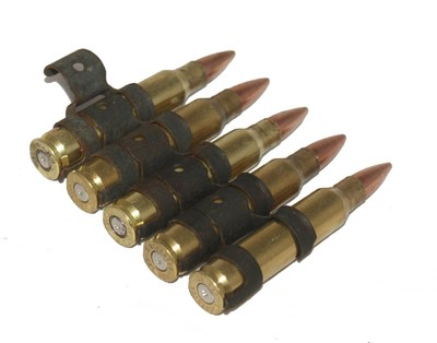5.56 5 pack inert bullet belt minimi